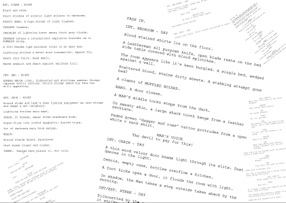 Ah, the life of a screenwriter, must be sweet you say? More to the fact it's like stale wine. It starts of fresh like juice, no substance then once it ...